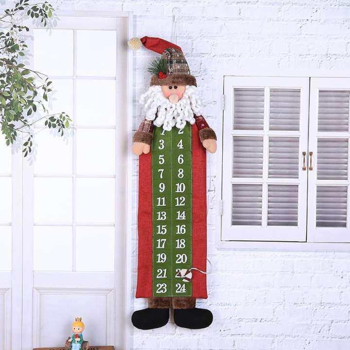 Tertran Christmas Old Hairy Man Calendar Advent Countdown Calendar Wall Calendar Home Decor Tool Items Modern Statue Rack Rustic Patiton Kitchen Tree Ikea Light Retro Classical Elegant Lazada