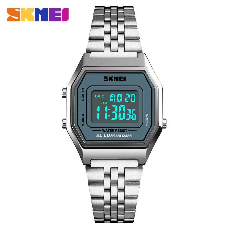 SKMEI Women Watch Luxury Waterproof Sports Watches Stainless Steel Fashion Casual Wristwatch Female Clock 1345 Malaysia