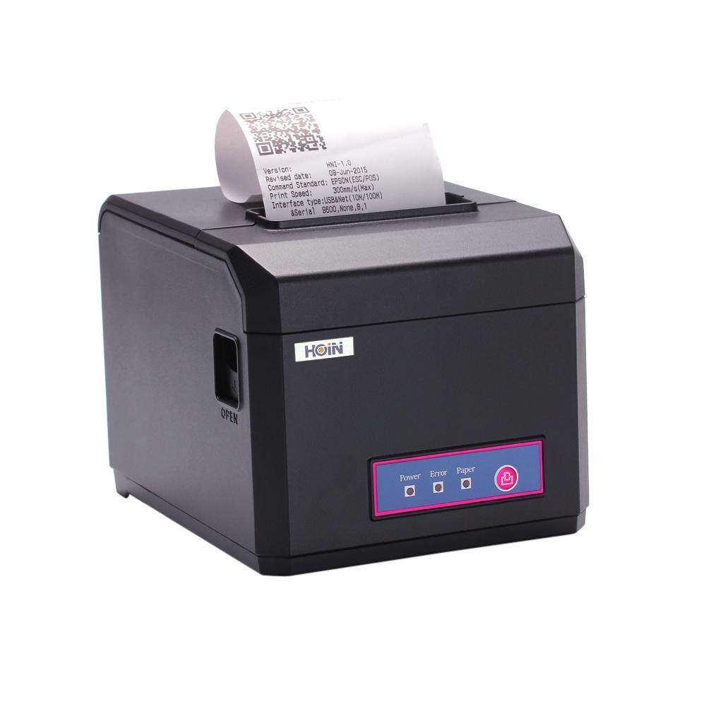 Hoin High-speed 80mm & 58mm POS Dot Receipt Paper Barcode Thermal Printer USB 300mm/s for Supermarket Store Bank Restaurant Bar US Plug