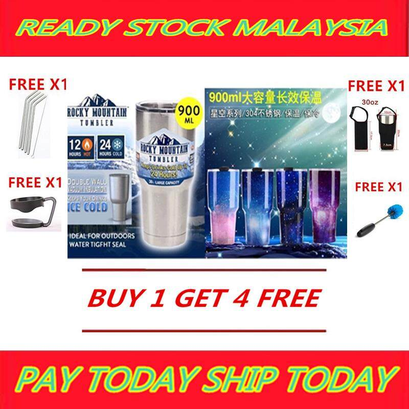 (Ready Stock Malaysia) Rocky Mountain Tumbler Double Wall Bilayer Vacuum Insulated + 4 SPECIAL FREE GIFT image on snachetto.com