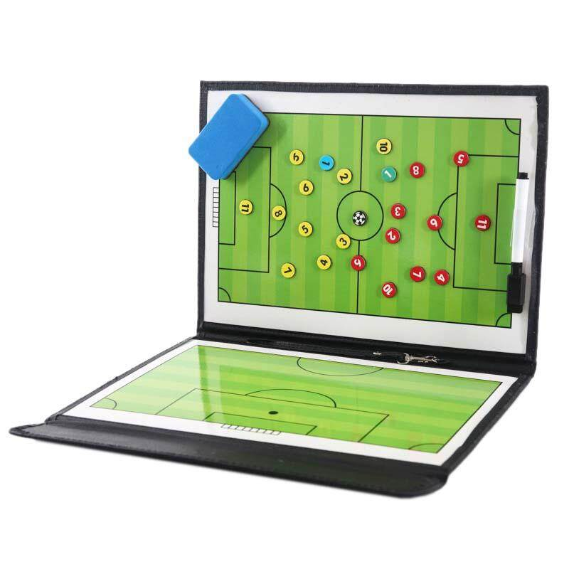 Portable Trainning Assisitant Equipments Football Soccer Tactical Board 2.5 Fold Leather Useful Teaching Board By Dragonlee.