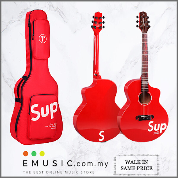 Sup Supartmark Supreme Acoustic Guitar - Best Beginner Guitar comes with GigBag Malaysia