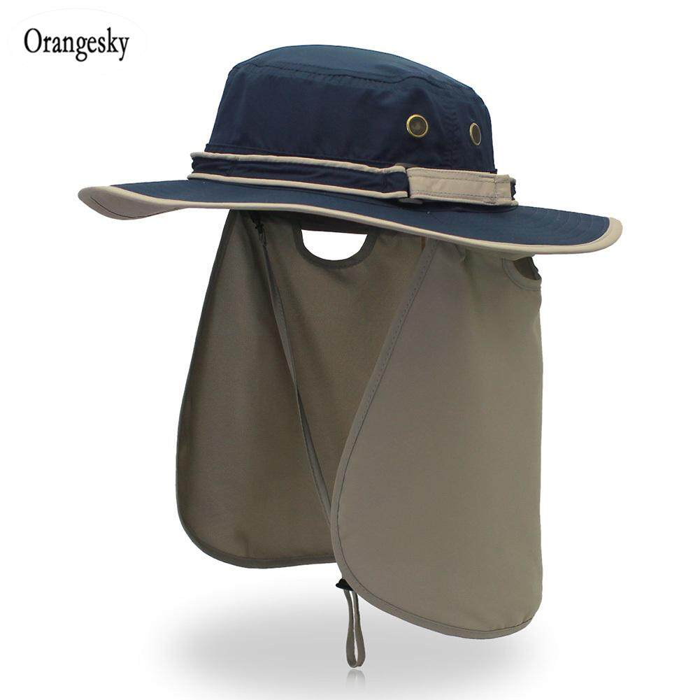763e533a Orangesky Men Women Sun Hat with Neck Flap Quick Dry UV Protecting Caps  Fishing Hat