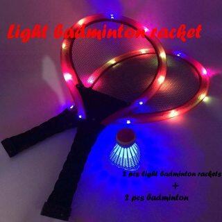 H40 Đèn Ngủ Ngoài Trời Giải Trí Gia Đình, Bộ Vợt Cầu Lông LED Vợt Cầu Lông Phát Sáng Có Cầu Lông thumbnail