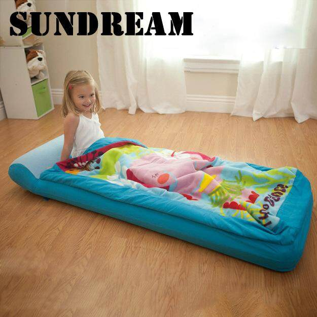 SUN HOME Childrens inflatable mattress single thickened air cushion bed nap with sleeping bag storage bag