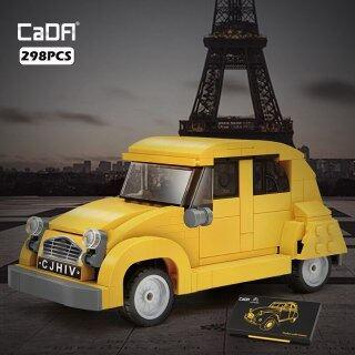 Khối Xây Dựng Mô Hình Ô Tô Mini 2CV Cổ Điển Hoài Cổ Mới 1948, Gạch 298 Chiếc Đồ Chơi Kỹ Thuật Cho Xe Thành Phố Màu Vàng Cho Trẻ Em Bé Trai thumbnail