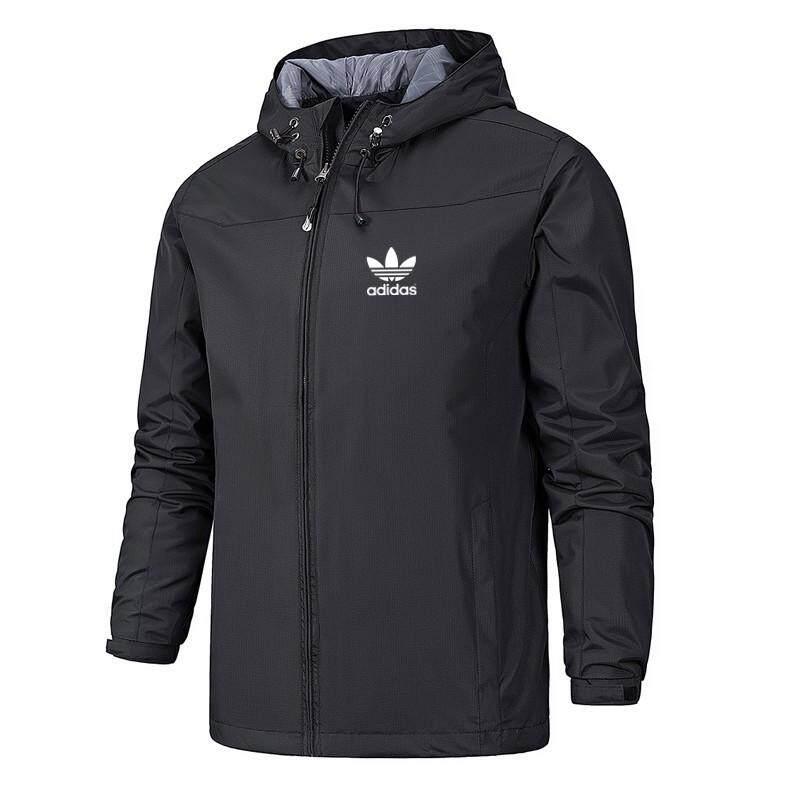 ผู้ชาย ADIDAS เสื้อแจ็คเก็ตบอมเบอร์แจ็คเก็ตกันลมกันน้ำเสื้อแจ็คเก็ตกันหนาว