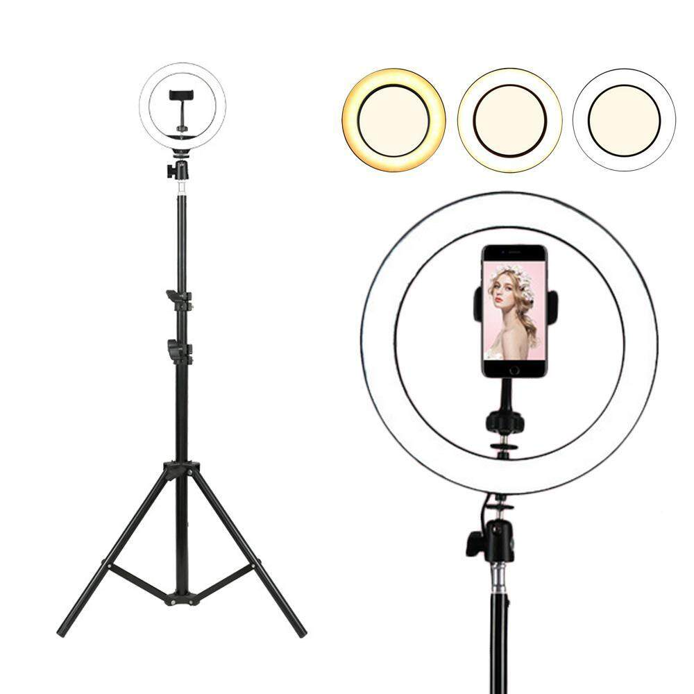 Kobwa Selfie LED Ring Light with Tripod Stand &Phone Holder Led Camera Light for YouTube Video and Live Makeup/Photography Bright Adjustment