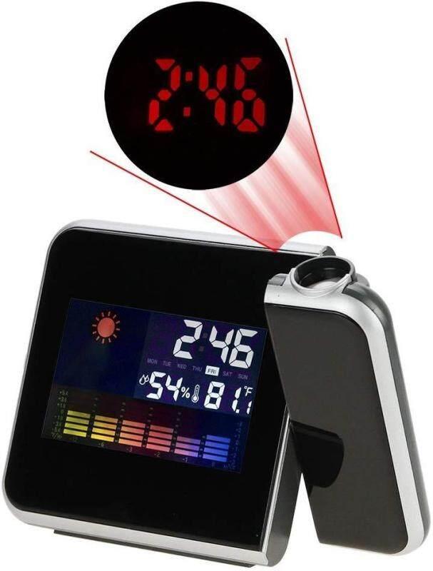 Đèn Nền LED/Màn Hình Hiển Thị Màu W, Chiếu Kỹ Thuật Số Thời Tiết Màn Hình LCD Báo Lại Đồng Hồ Báo Thức bán chạy