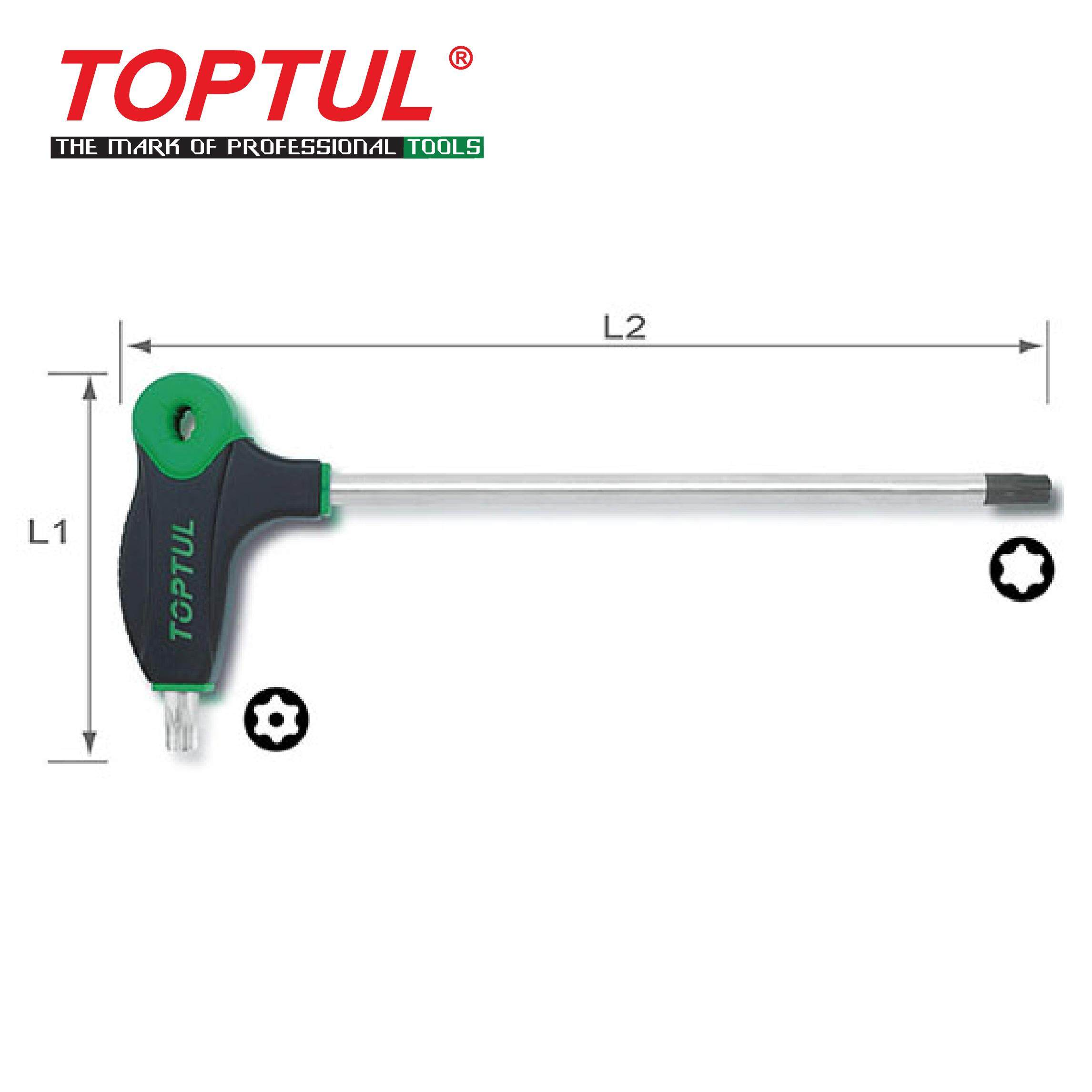 [Clearance Sale] TOPTUL L-Type Two Way Star & Tamperproof Key Wrench (AIED series)