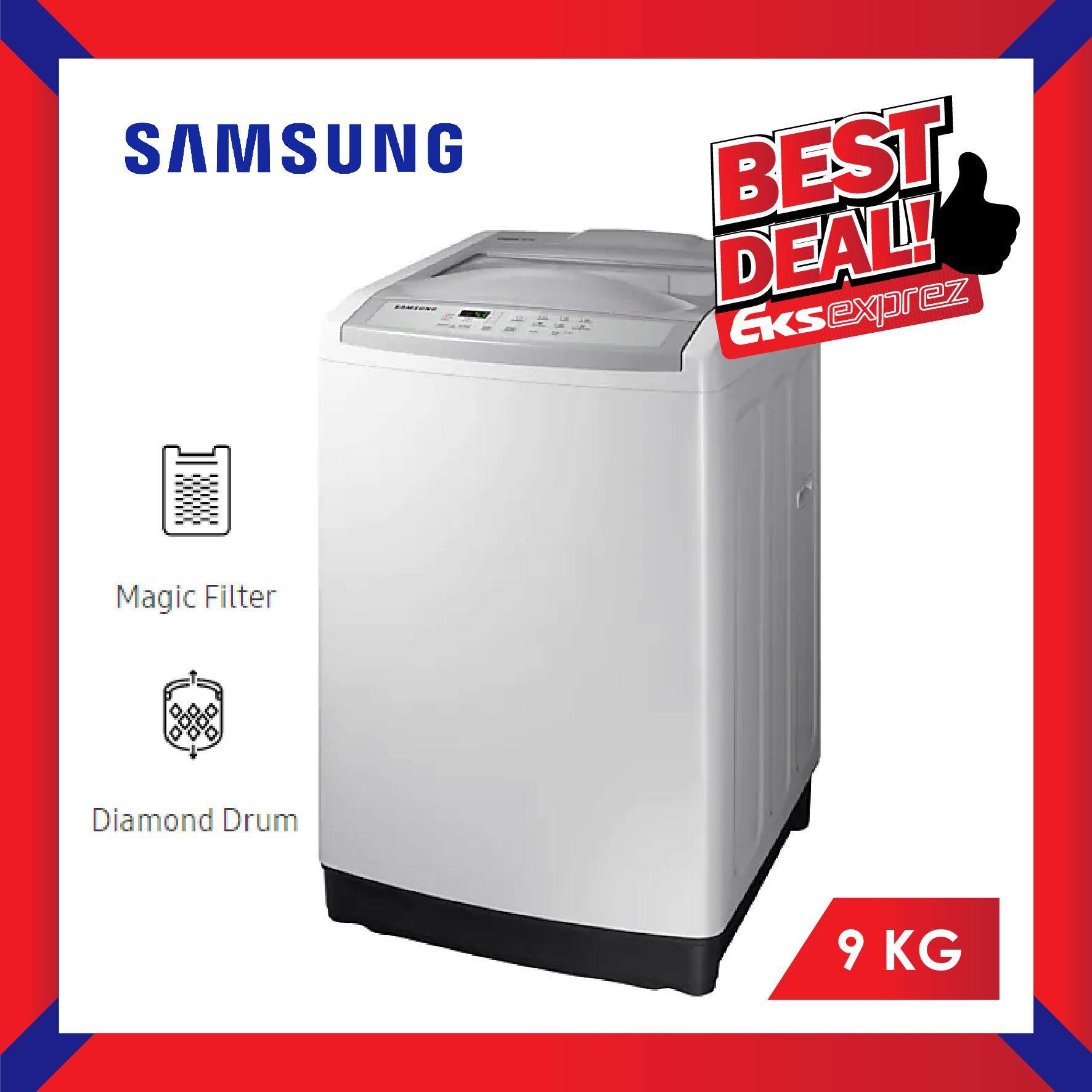 Samsung WA90M5120SG/FQ 9KG Top Load Fully Automatic Washing Machine/Washer with Wobble Technology
