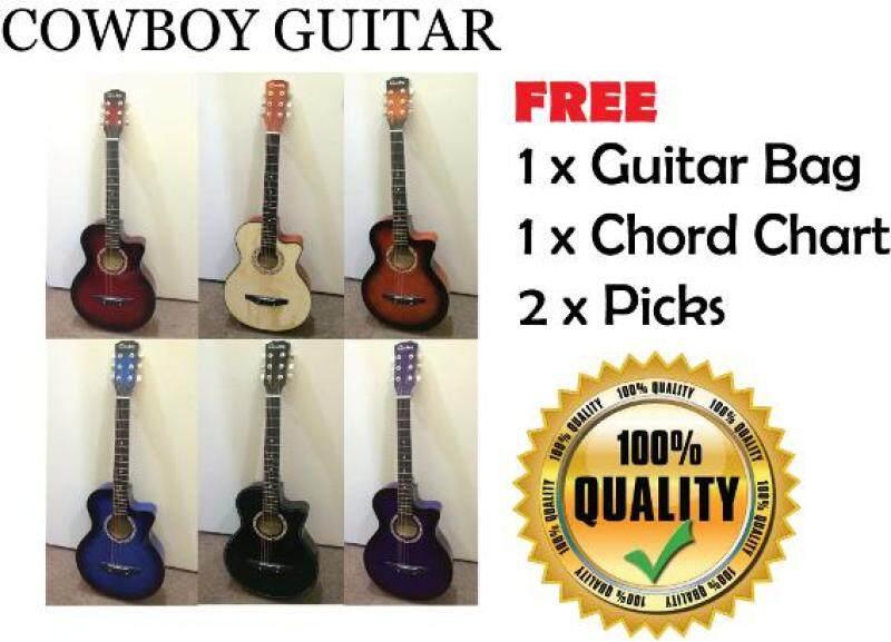 Cowboy Guitar + Free Bag + Chords Chart + 2 Picks Malaysia