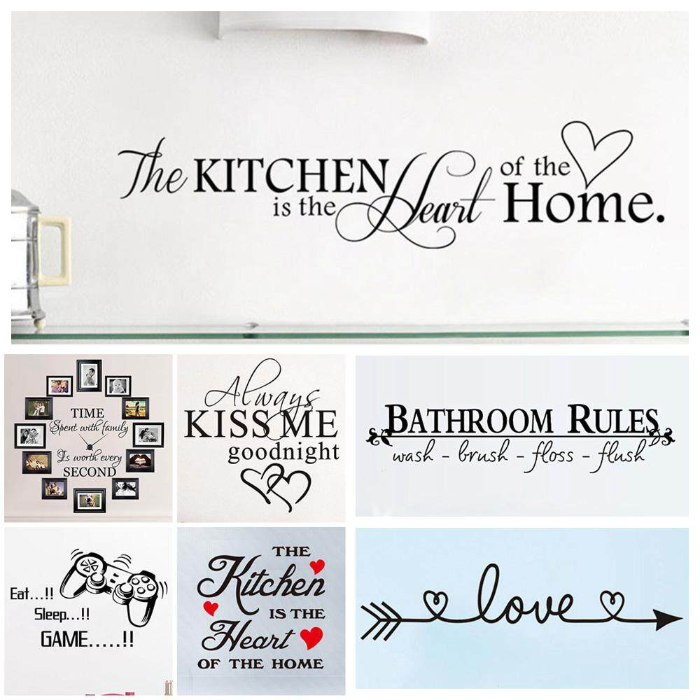 Ornament Wall Stickers Proverbs Poster English  Phrases Quotation Words Decal
