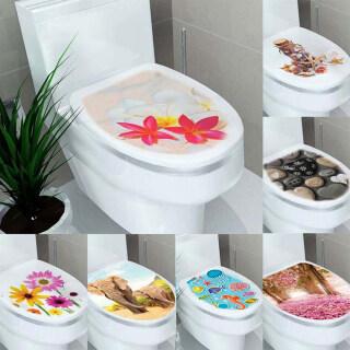 Bệ Nhà Đề Can Nắp WC Chống Nước Có Thể Tháo Rời Nhãn Dán Nhà Vệ Sinh Miếng Dán Bồn Cầu Trang Trí Bồn Cầu thumbnail