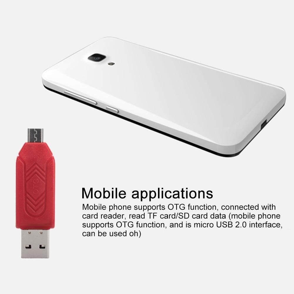 2 trong 1 Tiết Kiệm Không Gian Giao Diện Kép chống Trơn Trượt Nhẹ Thông Minh Đa Năng Di Động ABS Thẻ Đa Năng USB 3.0 Adapter tương thích Micro Nhỏ Gọn - 1
