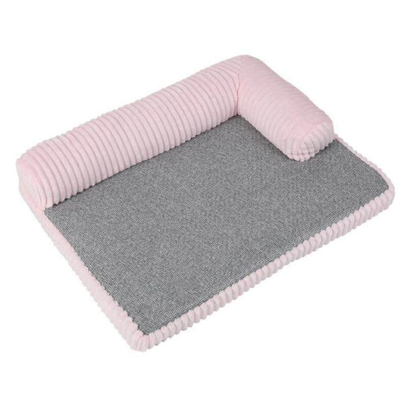 Giường Nằm Hình Chữ L Cho Chó Mèo, Giường Ngủ Cho Thú Cưng Bằng Vải Cotton Ghế Sô Pha Cho Chó Mèo