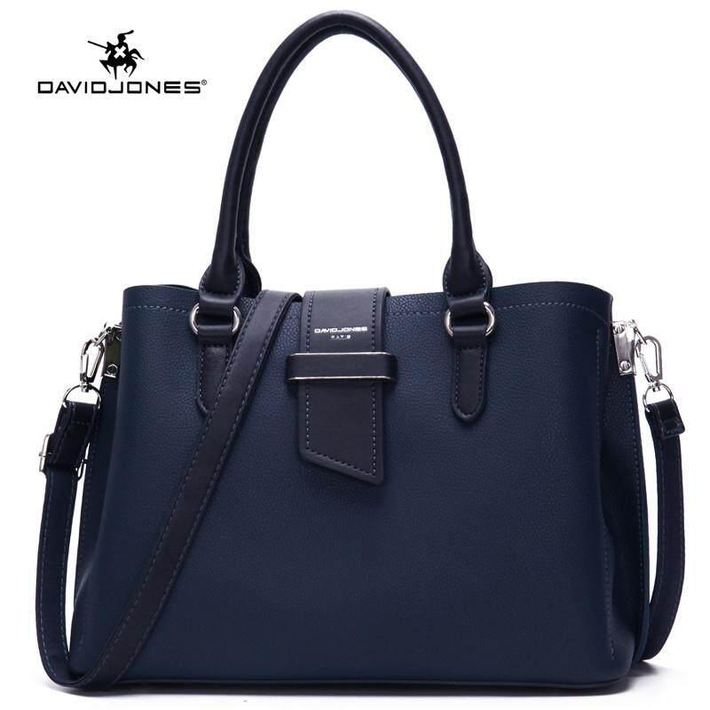 David Jones Paris women shoulder bag pu leather female tote bag large lady top-handle bag