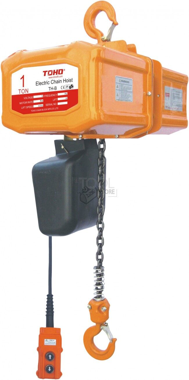 Toho electric chain hoist price for 12 mtr