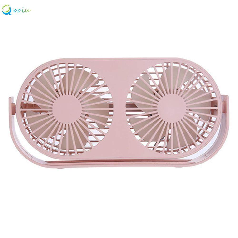 Qooiu Powerful Wind Double Head Double Blade Aromatherapy Fan Three Winds Cool No Dead Angle Cooling Low Noise Desktop Fan Summer Essential By Qooiu.