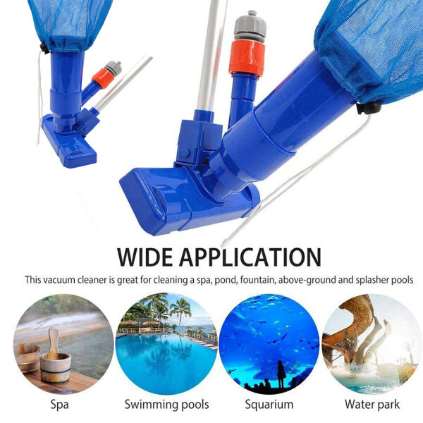 Dolity Handheld Pool Vacuum Cleaner with 5 Section Pole Leaf Vacuum Brush for Spa