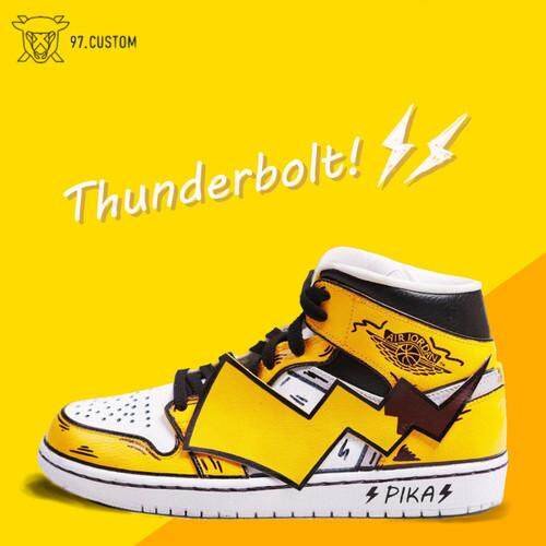 NIKE_AIR JORDAN_1 Pikachu Color_matching Sneakers_custom Perubahan Warna _