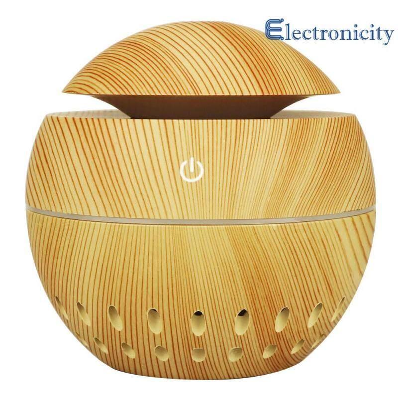 130mL Wood Grain USB Aroma Essential Oil Diffuser Ultrasonic Humidifier Singapore
