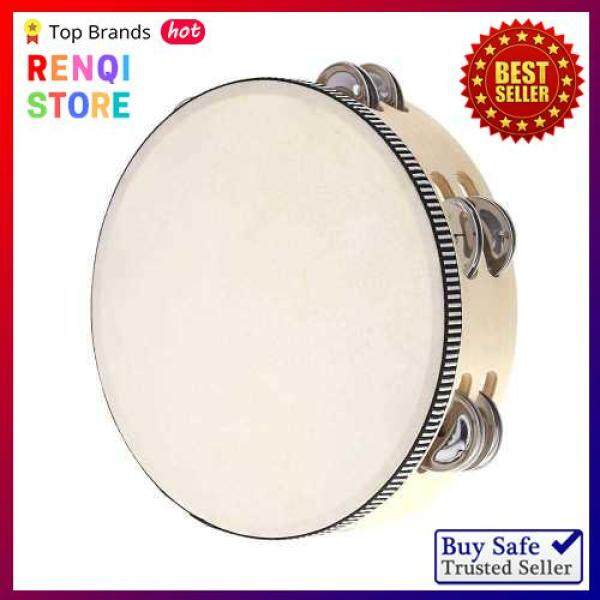 [SPECIAL OFFER] 8 Double Row Tambourine Drum Bell Birch Metal Jingles Percussion Musical Educational Toy Instrument for KTV Party Kids Games (Black Red) Malaysia