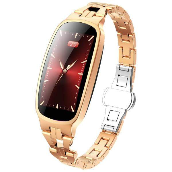 (Fantnesty) Woman Color Screen Heart Rate Sleep Monitoring Smart Watch Waterproof Bracelet for men women best seller on sale Silica Gel gold Malaysia