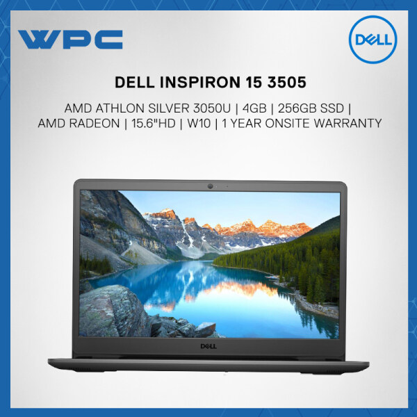 DELL INSPIRON 15 3505 3505-3050U42APU-HD ( AMD ATHLON SILVER 3050U/ 4GB/ 256GB SSD/ AMD RADEON/ 15.6HD/ W10/ 1YR) Laptop Soft Mint Malaysia