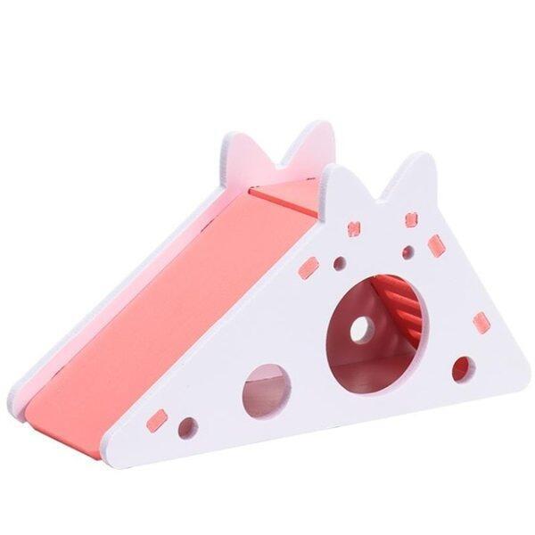 Đồ Chơi Tập Thể Dục Cho Chuột Lang ẨN NÁU Gỗ-Nhựa Tấm Hedgehog Nhà, Với Thang Trượt Trượt Chinchilla Cave Nhỏ Pet Nguồn Cung Cấp