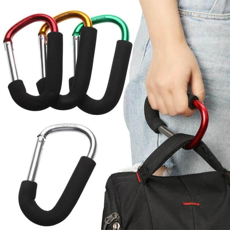 1* Multicolor Buggy Pram Hanger Metal Stroller Accessories Baby Stroller Clips Large Hand Carry Pushchair Holder Shopping Bag Hooks Singapore