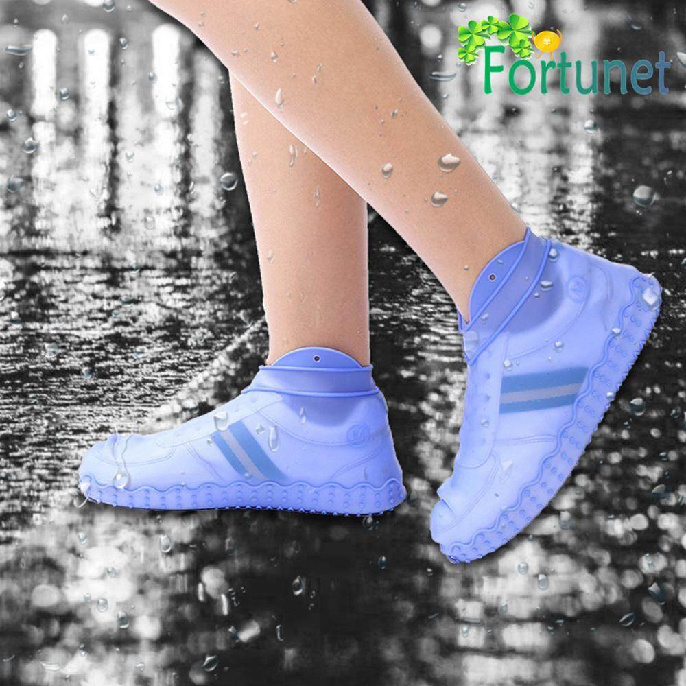 Fortunet Rain Shoe Covers Silicone Non-slip Shoe Cover Waterproof Reusable Boot Shoes Covers