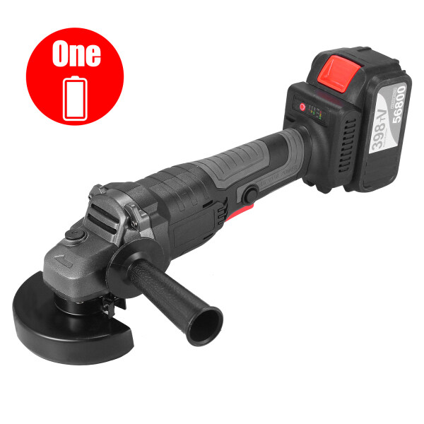 ITOOL 21V/18V Brushless Angle Grinder Tool 100mm Adjustable Speed 4.0Ah Lithium-Ion Electric Cordless Grinding Machine Metal Cutter with Side Handle with B-attery