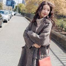 Thời Trang Hàn Quốc Nữ Mùa Đông Áo Khoác Mùa Đông Mới Áo Khoác Len Dài Phong Cách Áo Khoác Nữ