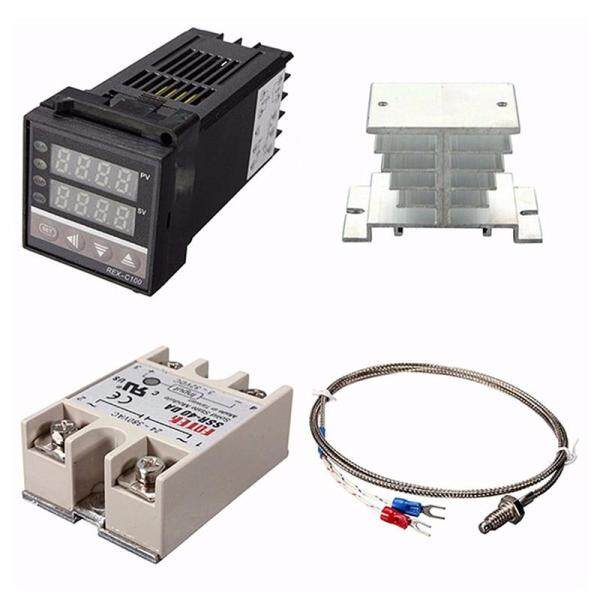 Digital 220V PID REX-C100 Temperature Controller + max.40A SSR + K Thermocouple, PID Controller Set + Heat Sink Malaysia