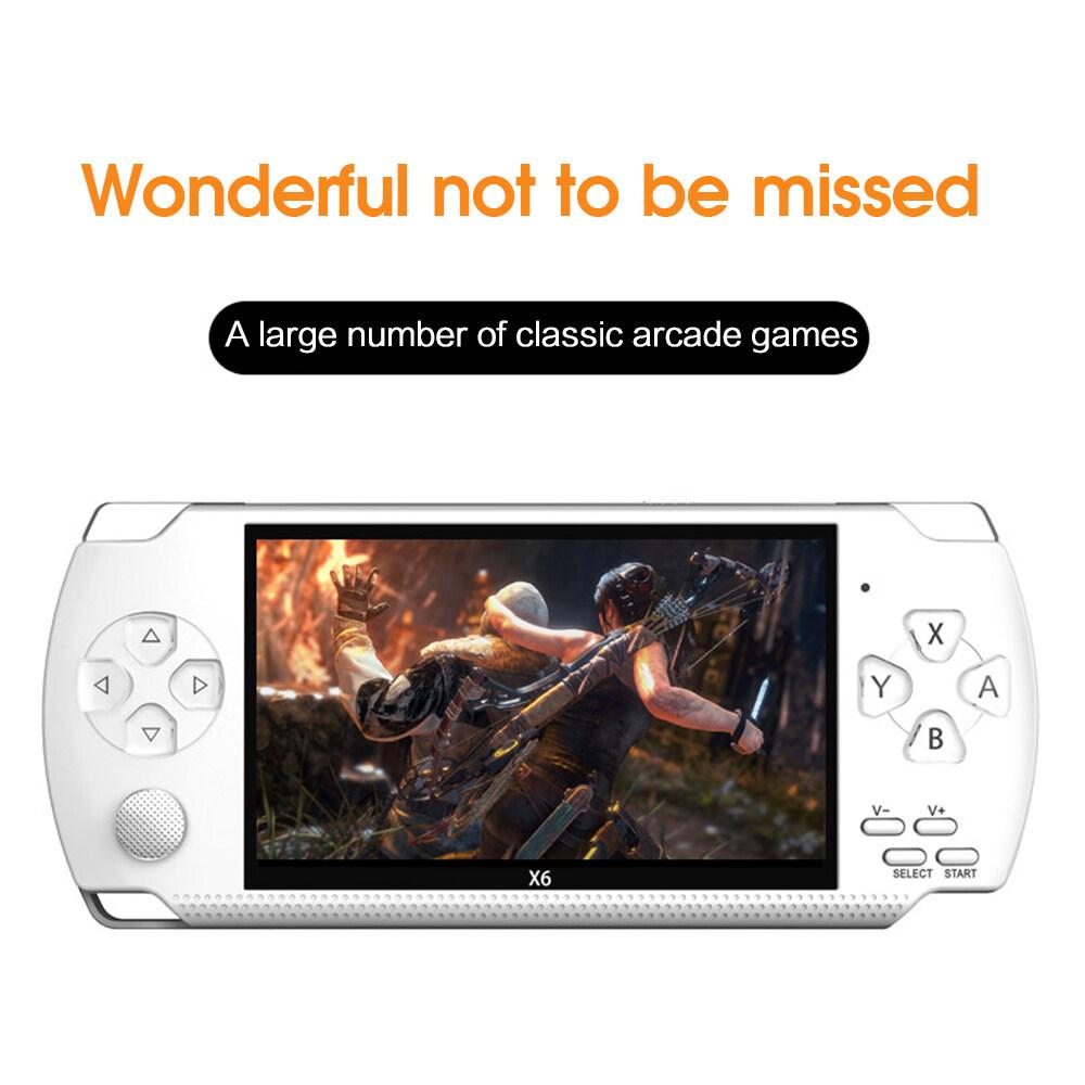"""PSP 64 Bit 4.3"""" Trò Chơi Cầm Tay Di Động Máy Chơi Game 8GB Hơn 10000 Trò Chơi + Máy Ảnh X6"""