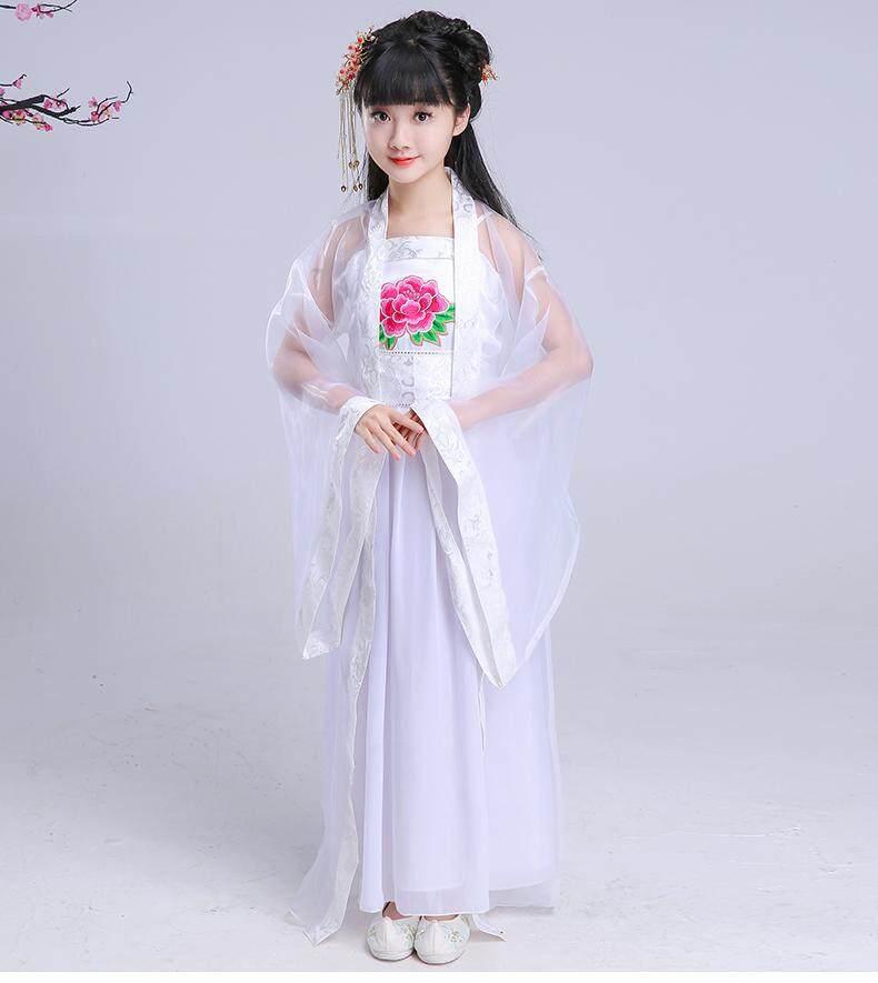 Bé gái Trung Quốc Quần Áo Phong Cách Trung Hoa Mùa Hè Trẻ Em Công Chúa Cổ Tích Trang Phục Bé Gái Guzheng Nhảy Hiệu Suất Quần Áo Đầm Cosplay