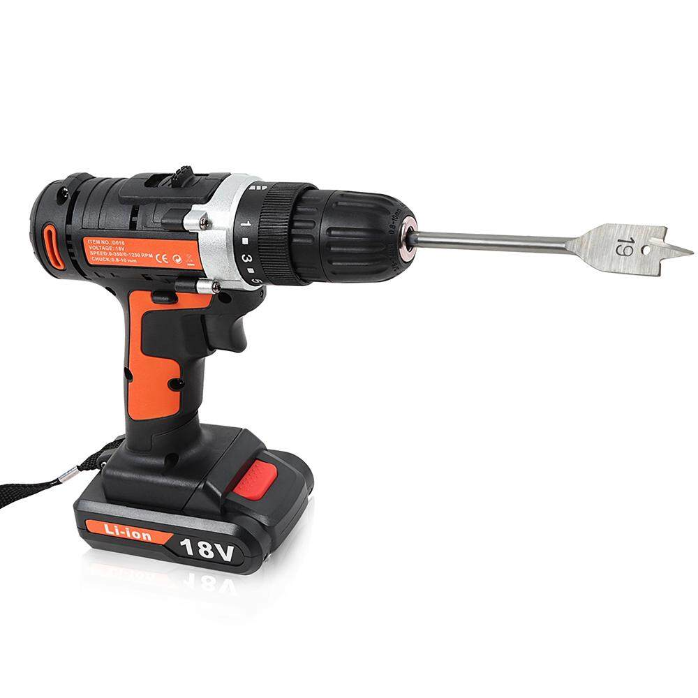 18V Rechargeable Li-ion Double Speed Electric Drill Set