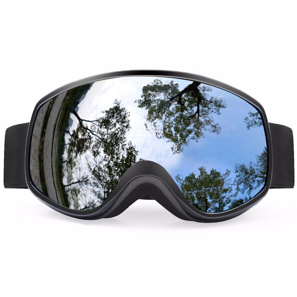 Ski Goggles Colorful Lens Winter Snow Sports Snowboard Goggles Anti-Fog Uv Protection Kids Skiing Mask Skiing Glasses D30