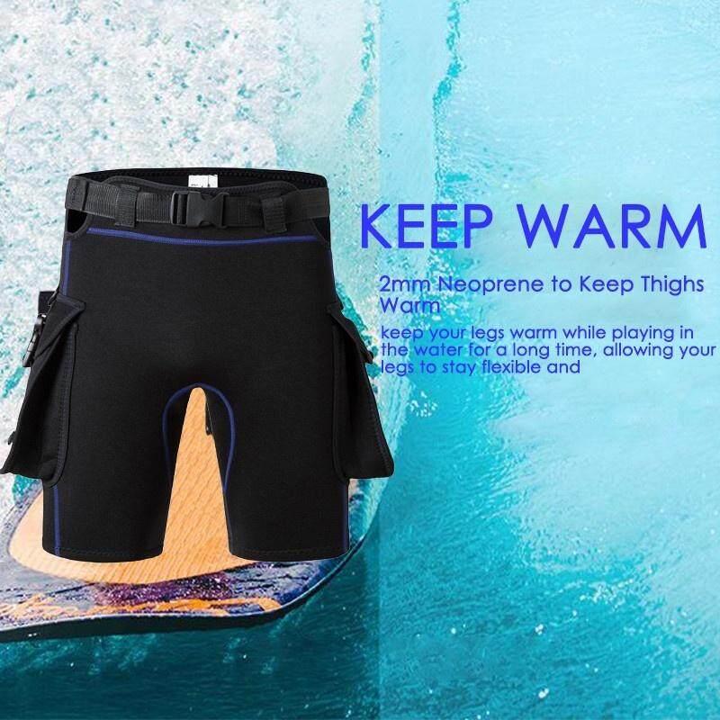 f3d4d29e844e8 2MM Neoprene Diving Shorts Mens Womens Adjustable Short Pants with Pockets Scuba  Swimming Trunks Titanium Warm