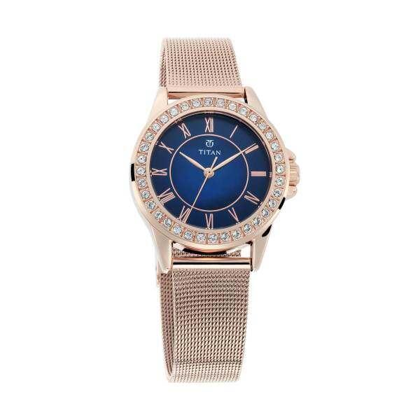 Titan Sparkle Blue Dial Analog Watch for Women 9798WM03 Malaysia