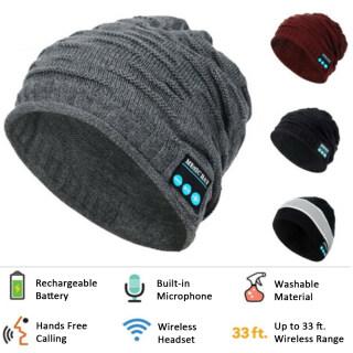 (Đang Giảm Giá) Bluetooth5.0 Âm Nhạc Ấm Áp Mũ Thể Thao Không Dây Mũ Thông Minh Tai Nghe Loa Tai Nghe Mic Băng Đeo Đầu Thể Thao thumbnail