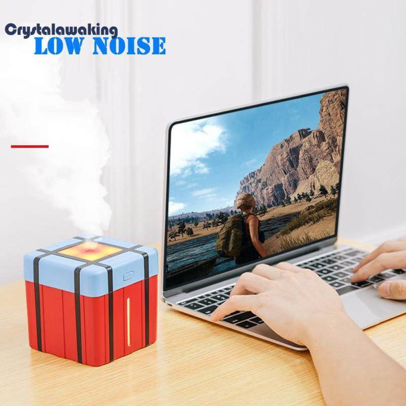 New Arrival 300mL PUBG Airdrop Box 7 Color LED Light Air Humidifier USB Aroma Diffuser Singapore
