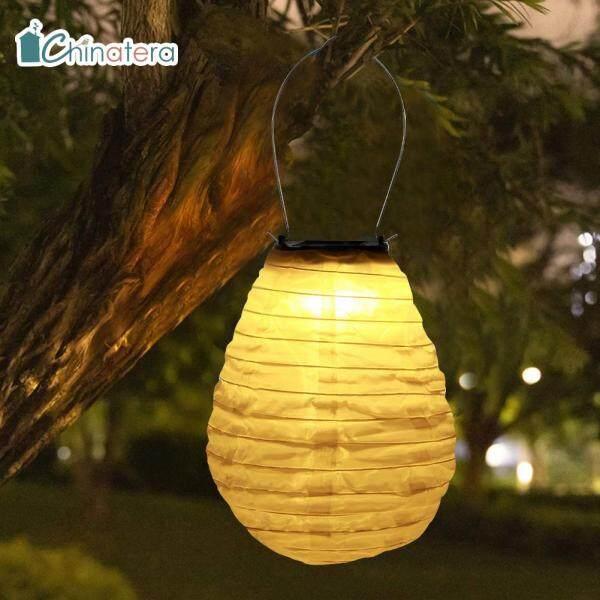[Chinatera] Đèn LED Năng Lượng Mặt Trời Không Thấm Nước 8 Inch Đèn Lồng Trung Quốc Vườn Ngoài Trời Tiệc Nghỉ Lễ Đám Cưới Dây Treo Trang Trí
