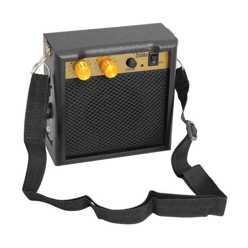 Portable Mini Guitar Amplifier Amp Speaker 5W with 3.5mm Headphone Output Supports Volume Tone Adjustment Malaysia