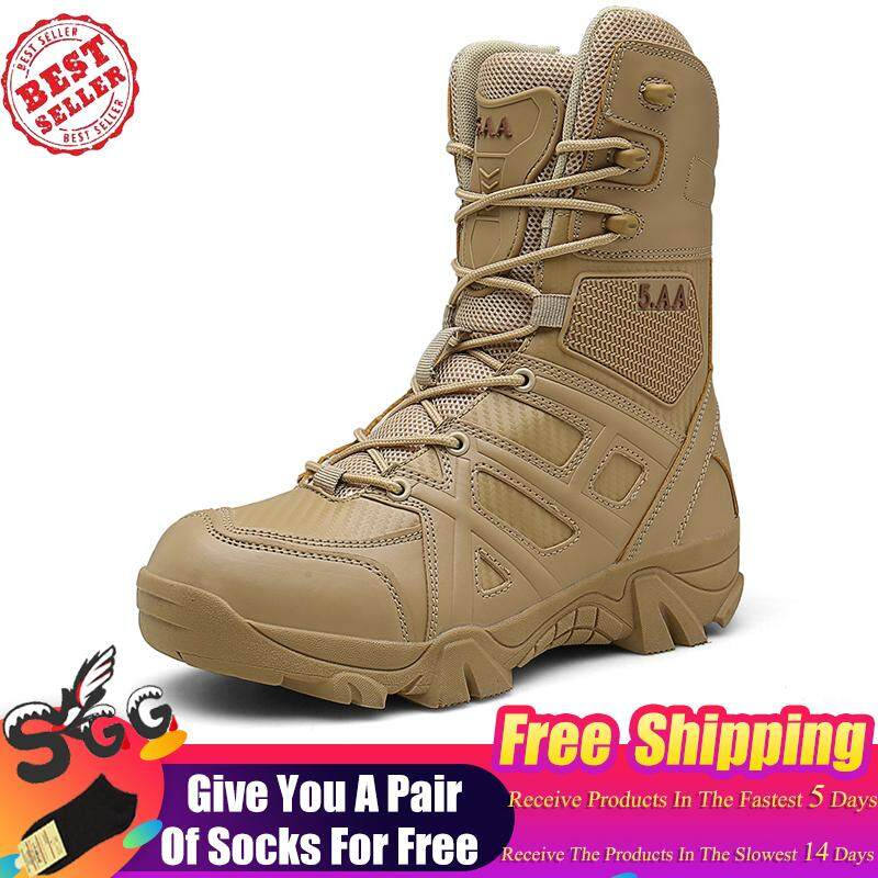 9a2d3edf6716 2019 New Men Outdoor Army Combat boots Trekking Hiking shoes Military  Tactical boots Desert Ankle boots