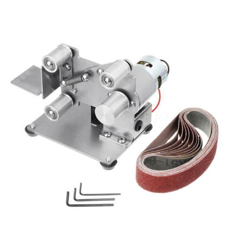 ToolStar 4000-9000 VÒNG/PHÚT Mini Dây Nhám Băng Ghế Dự Bị Đánh Bóng Mài Đệm + 10 Thắt Lưng