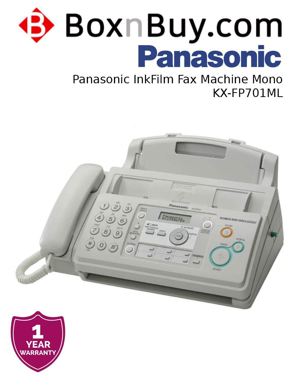 Panasonic InkFilm Fax Machine Mono KX-FP701ML