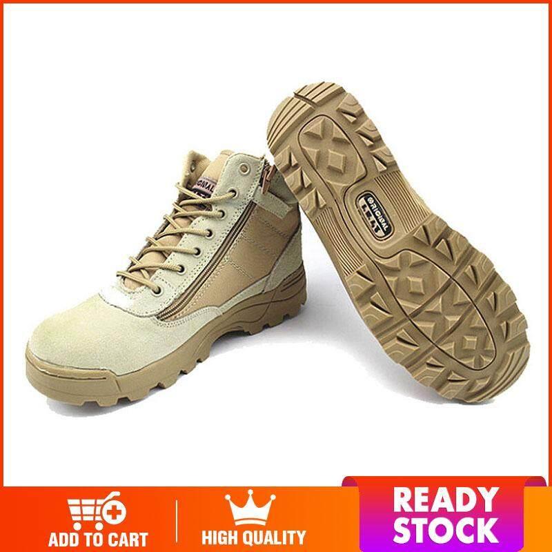 Wjkfgi กลางแจ้งแบบสั้นรองเท้าต่อสู้ทางยุทธวิธีทหารยุทธวิธี Boots【ready Stock - คุณภาพสูง】 By Wjkfgi Store.