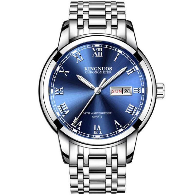 Business Fashion Casual Waterproof Men Watches Jam Tangan Luxury Date Calendar Stainless Steel Wrist Watch for Men
